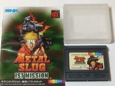 NGP METAL SLUG 1st Mission NEOGEO Pocket Color Cartridge and manual set tested-A