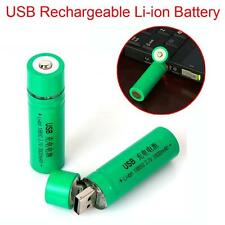 1pc 18650 3.7V 3800mAh USB Rechargeable Li-ion Battery for Flashlight Torch Lamp