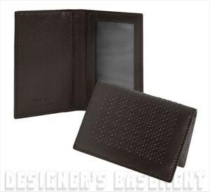 SALVATORE FERRAGAMO black Mini GANCINI embossed ID window Card Case NIB Authentc