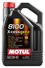 5 lt Motul 8100 X-Cess 5W40 Gen2 Olio Motore 100% Sintetico ACEA A3/B4 API SN