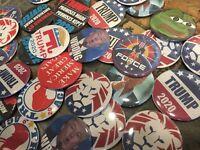 """1 Donald Trump 2.25"""" Random Button Pin Campaign MAGA 2020 Covfefe"""