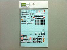 Full Decal for Fujimi 1/20 McLaren Honda MP4/6 A. Senna Tobacco F1