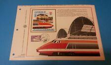 FRANCE DOCUMENT ARTISTIQUE YVERT AEROTRAIN EXPORAIL NICE 1982  L632
