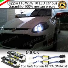 COPPIA LUCI DI POSIZIONE 10 LED GRANDE PUNTO T10 W5W CANBUS 400 LUMEN CON LENTE