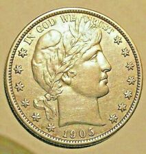 1905 S BARBER HALF DOLLAR  SILVER VERY APPEALING TO THE EYE AND VERY COLLECTIBLE