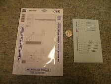 Microscale  decals HO MC-4162 CSX diesel data 1990+  K75