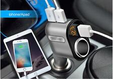 Car Cigarette Lighter Socket Adapter Charger DC 12V With 3 USB Port For Phone