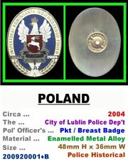 Obsolete Breast Badge • Poland • City of Lublin Pol' • Post 1950 • 200920001•B
