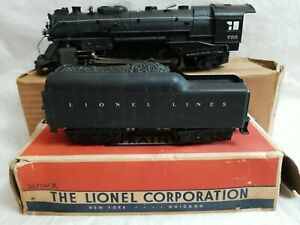 LIONEL POSTWAR 736 2-8-4 BERKSHIRE & 2671WX WHISTLE TENDER with ORIG. BOXES