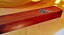 NIPPON FISHING TACKLE BOX LONG WOOD WOODEN NFT BAMBOO GLASS ROD EMPTY VINTAGE.