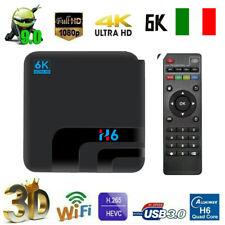 H6 Smart TV Box Android 9.0 4GB RAM 32GB Quad core 6K 3D HD 1080P 2.4G WIFI W6E0