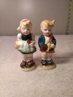 ANTIQUE OCCUPIED JAPAN BOY & GIRL CHILDREN  SALT/PEPPER SHAKERS