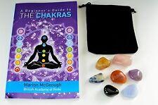 Chakra Healing Crystals Tumblestones Gemstones Gift Set With Chakra Guide Book