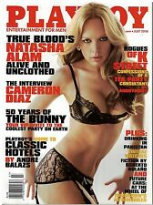 july 2010  issue of Playboy  with True Blood's Natasha Alam