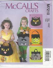 McCalls M7210 Crafts Pattern Treat Bags OSZ Uncut