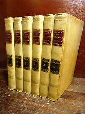 NAVA/DU-CLOT : LA SACRA BIBBIA VENDICATA - BRESCIA 1821  Pergamena 6 volumi