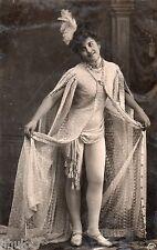 BE291 Carte Photo vintage card RPPC Femme woman danse robe costume ballet