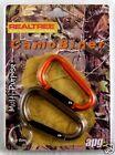 Realtree Camo Carabiner, 2 Pack Hunting Hiking Camping Clip