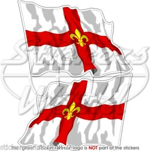 City of LINCOLN Flying Flag Lincolnshire 75mm Stickers