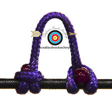 3 Pack Purple Archery Release Bow String Nock D Loop Bowstring BCY #24