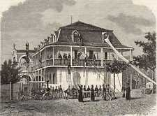 Antique print seminarie Port-au-Prince Haiti Haïti 1881