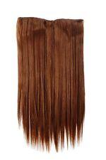 Postiche Extensions Cheveux Large 5 Clips Dense Lisse Marron Cuivre 60 CM