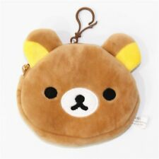 Japan Cartoon Cute Rilakkuma San-X Bear Mini Plush Coin Bag Wallet Pouch