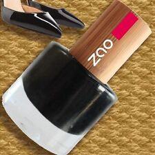 Zao NAIL-Polish 644 SMALTO BLACK 8ml coperchio in bambù 7-FREE NERO vegan Fair
