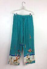 CHICOS Tribal Linen Pants Drawstring Women's 0