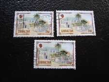 GIBRALTAR - timbre yvert et tellier n° 378 x3 obl (A33) stamp