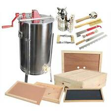Goodland Bee Supply 2 Frame Honey Extractor With Bee Brood Box & Hive Tool Kit