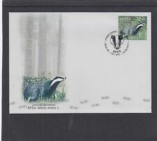 Latvia 2017 Badger First Day Cover FDC