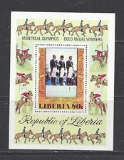 LIBERIA - C217 S/S - MNH - 1977 - MONTREAL OLYMPICS - TEAM DRESSAGE WINNER