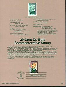 #9203 USPS Souvenir Page, Scott #2617 - $0.29 W.E.B Du Bois Stamp