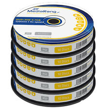 50 MediaRange DVD+RW 4.7GB 120 minutes 4x rewritable Blank discs Cakebox MR451