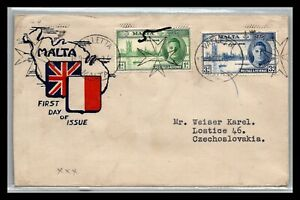 GP GOLDPATH: MALTA COVER 1946 FIRST DAY OF ISSUE _CV699_P16