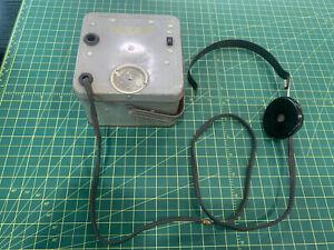 ***A C Gilbert U-238 Atomic Energy Lab*** Geiger Counter & Headphones - WOW