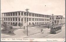 Kingston, Jamaica - Public Buildings, tram - postcard, stamp 1915