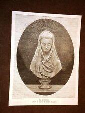 La Modestia Busto in marmo di Giosuè Argenti