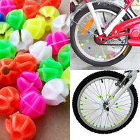 36X Coloured Bike Wheel Spoke Mini Beads Decors Spokey Dokey Fits Kids Cycling