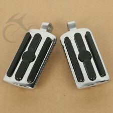 10mm Highway Foot Pegs Footrest Chrome For Harley Davidson Touring Softail Dyna