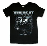 VOLBEAT SKELETONS BLACK T-SHIRT NEW OFFICIAL ADULT