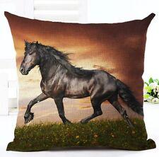 """Cavallo Multicolore Design Copricuscino 17"""" x 17"""" ARREDAMENTO CASA DIVANO"""