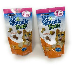 Kit Kaboodle Treats 4 oz Pack - Chicken Flavor - Lot of 2