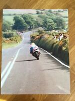 **MY**   Isle of Man TT Races Joey Dunlop 10 x 8 Photograph #2 Honda Britain
