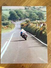 **MY**   Isle of Man TT Races Joey Dunlop 10 x 8 Photograph #2 Honda Britain