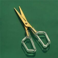 Scissor Clear Handle Gold Metal Design Office Cutting School Household Supplies