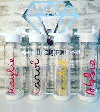 Exact love personalised water bottle island Fruit Infuser Straw Teacher Gift