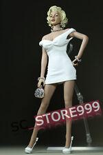 "1/6 Female Dress Customized Mini Skirt Monroe Cloth Suit For 12"" TBL Doll White"