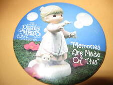 "Pin Collectible 3"" Precious Moments Collection pinback Memories Are Made Of This"